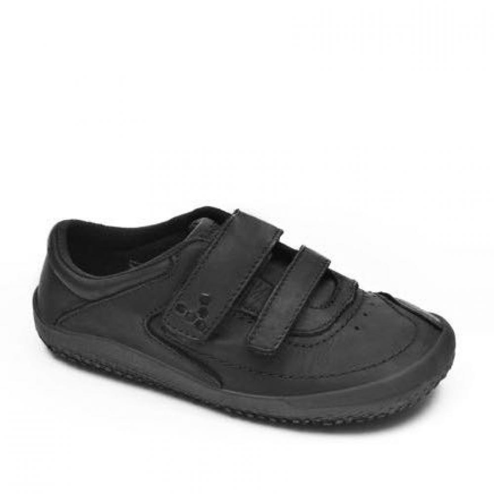Dětské Vivobarefoot RENO K Leather Black Hide  99f78cb384