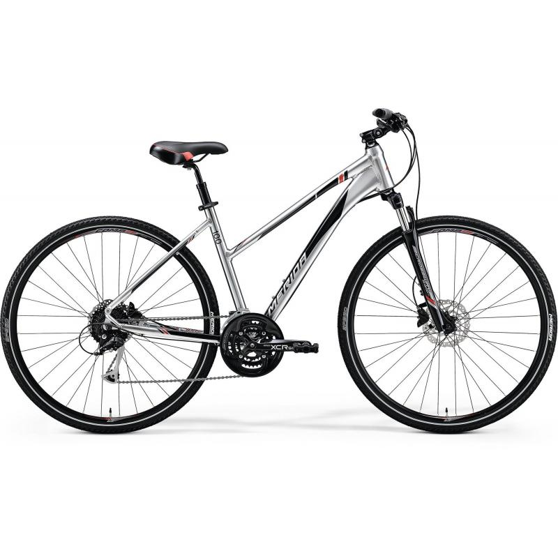 Merida CROSSWAY 100 Lady Shiny Dark Silver(Red/Black) 2018