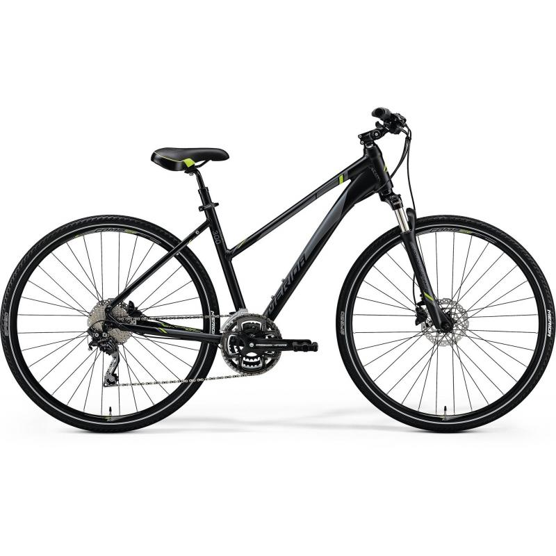 Merida CROSSWAY 300 Lady Matt Black(Green/Grey) 2018